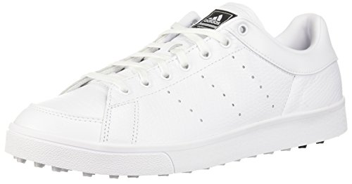 adidas Men's Adicross Classic Golf Shoe, FTWR White/FTWR White/core Black, 9.5 Medium US