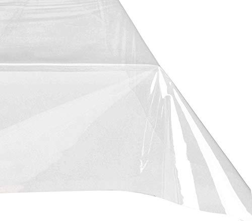 302965 Mantel cuadrado de plástico PVC 140x140 cm impermeable y transparente