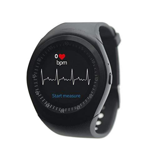 Y1X Smart Watch men sim android redondo Dicas de mensagem de telefone Y1X SmartWatch (preto)