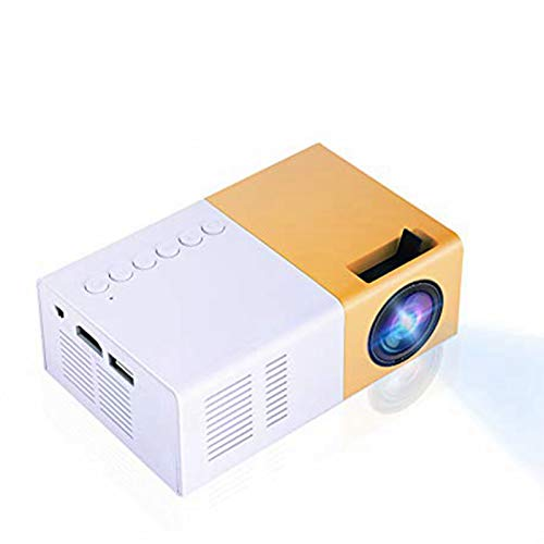 fosa Mini Projectors, Home Cinema Projector Portable 1080P LED Projector Indoor/Outdoor Movie projectors Support Laptop PC Smartphone HDMI Great Gift Pocket Projector for Party Camping(Yellow)