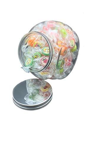 Bonbons 400g Hartkaramelle Rocks Bonbon mit Candyglas Bonbonglas 1200ml