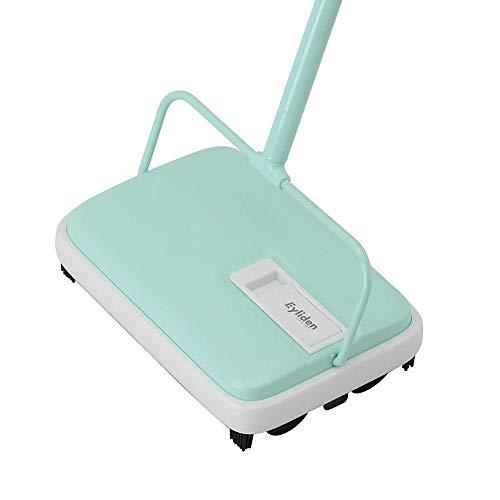 Mulibaihuo Teppichboden Sweeper Cleaner Hand Push Automatischer Besen for Home Office Teppiche Staubabfälle Papierreinigung mit Pinsel (Color : Light Green)