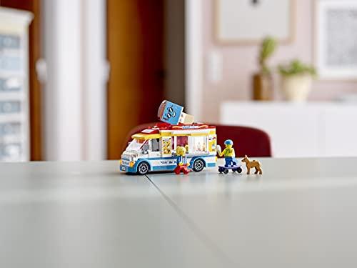 City Great Vehicles LEGO60253 Ice-CreamTruckToywithSkaterandDogFigure,forKids5+YearOld
