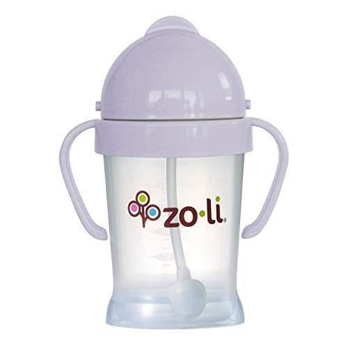 ZoLi BOT Weighted Straw Sippy Cup   Lilac, 6 oz, BPA Free, Baby's First Straw Cup – Baby Shower Gift