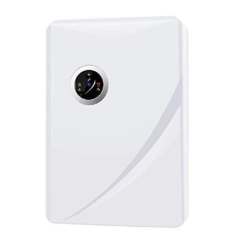 KKDWJ Deumidificatore da 1500ml Mini Portatile Silenzioso con Display Digitale dell'umidità modalità Sleep Asciugatura della Biancheria per Il Garage di Una Cantina