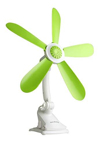Innoliving INN-510 Ventilatore da Tavolo Portatile 42 Cm con Clip, Plastica, Verde