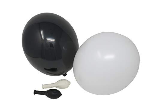 100 Luftballons je 50 schwarz & weiß Qualitätsballons 27 cm Ø (Standardgröße B85)