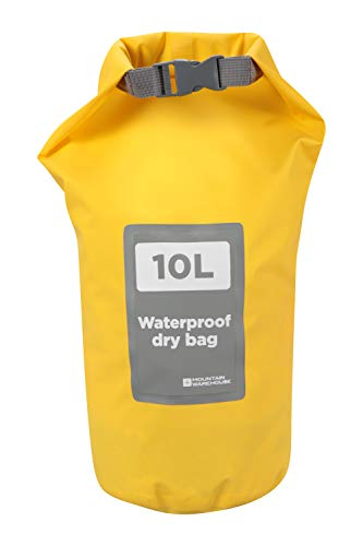 Mountain Warehouse Seesack-Rucksack - 10-Liter-Drybag, wasserdicht, leicht, mit Rollverschluss - ideal zum Baden, Campen, Wandern, Angeln, den Strand Gelb Einheitsgröße