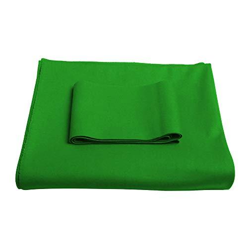 ZMB 8ft 9ft Billardtisch Filz+6 Filzstreifen,Grün,Rot oder Blau 3 colors available/Green(With edge cloth) / 2.8m