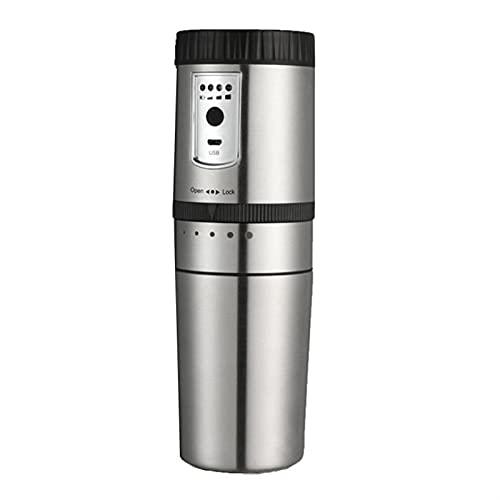 Draagbaar Koffiezetapparaat, Mini Semi-automatische koffiemachine Compact Koffie Slijpapparatuur Roestvrij elektrisch…