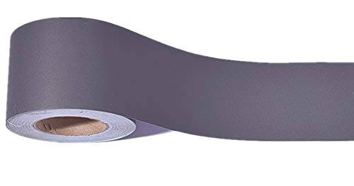 Emoyi Tapeten-Bordüre, selbstklebend, 10 cm x 10 m, Dunkelgrau