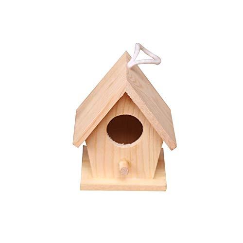 QYTSTORE 5 tipos de jaulas de nido de pajareras de madera, doble...