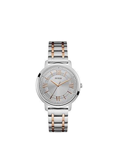 Guess Reloj Analógico para Mujer de Cuarzo con Correa en Acero Inoxidable W0933L6