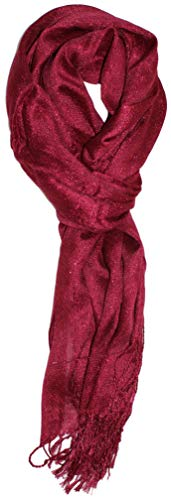 Ted and Jack - Hollywood Dreams Sparkling Metallic Scarf (Wine)