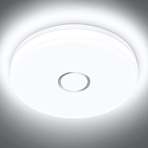Onforu 32W LED Lámpara de Techo, 3200LM Plafón Led de Techo Redondo 6000K Blanco Frío Luz Interior de Techo Moderno IP54 Impermeable para Baño, Dormitorio, Cocina, Comedor, Habitación, Balcón