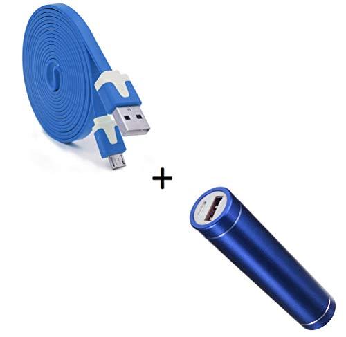 Shot Case Pack batería para Samsung Galaxy S6Edge + Smartphone Micro USB Android 2600mAh Azul