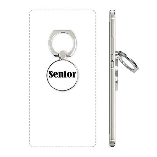 DIYthinker Zwart Enkele Woorden Senior Telefoon Ring Stand Houder Beugel Universele Smartphones Ondersteuning Gift