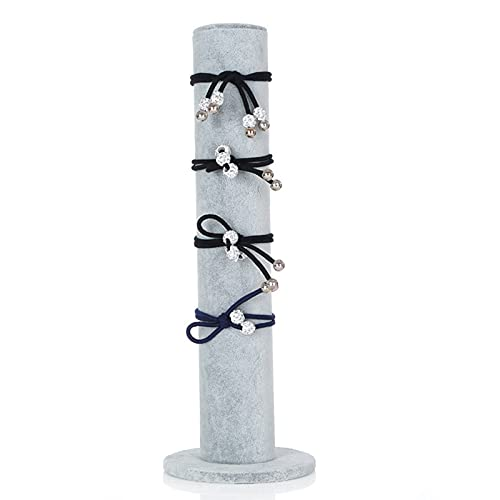 Titular Scrunchie Soporte Pulsera Soporte Joyería vertical Soporte de joyería de terciopelo Soporte de joyería vertical Pulseras Soporte de reloj Lazo para el cabello Banda para el cabello