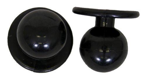 Kugelknöpfe für Kochjacke Farbe schwarz 1 Beutel = 12 einzelne Knöpfe