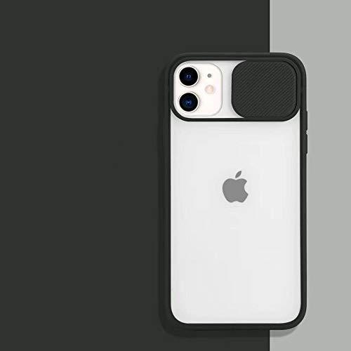WGOUT Estuche para teléfono con protección de Lente de cámara Deslizante para iPhone 11 Pro 12Pro XR XS MAX 6S 7 8 Plus X Carcasa Trasera Suave Transparente Mate, T5, para iPhone XR