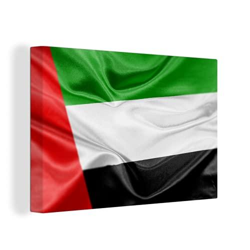 Leinwandbild - Die Flagge der Vereinigten Arabischen Emirate - 120x80 cm