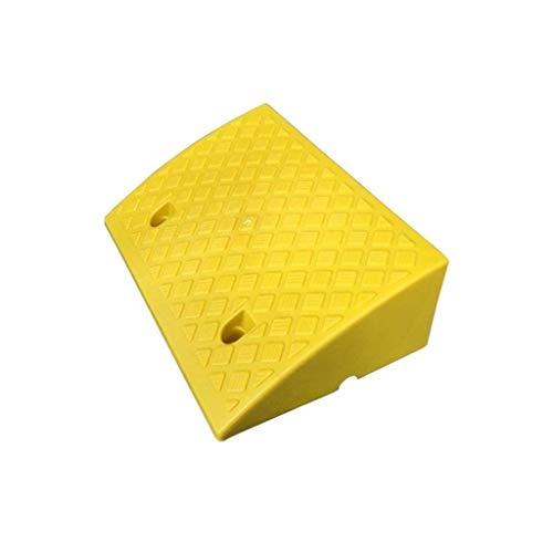 Geel/zwart, mat, draagbaar, voor buiten, Uphill, mat, dik kunststof, kruk, afmetingen oprijplaat: 50 x 33 x 17 cm. 50 * 33 * 17CM Geel