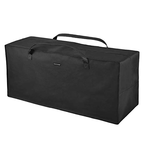 Patio Watcher Cushion Storage Bag Heavy Duty Zippered and Water Resistant Cover Storage Bag,Black