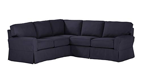 Amazon Brand – Stone & Beam Carrigan Modern Sectional Sofa Couch with Slipcover, 103'W, Khaki