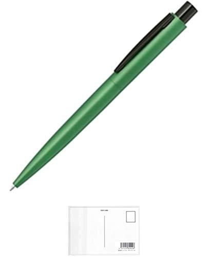 ゼブラ 油性ボールペン フォルティアCONE 0.7 グリーン BA99-G 【× 2 本 】 + 画材屋ドットコム ポストカードA