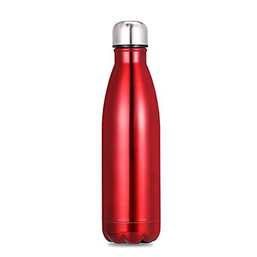 wjmss Taza portátil de 750 ml para Termo Deportivo al Aire Libre, Botella de Viaje de Botella de Bebida de Acero Inoxidable 304 para Deportes al Aire Libre Senderismo en Marcha,Rojo