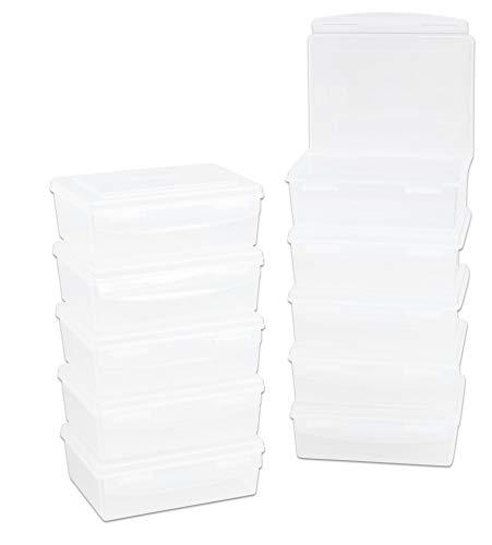 Betzold Aufbewahrungsbox, 1,4 l, transparent, 10er-Set - Aufbewahrungsbehälter mit Deckel