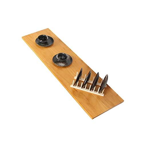 YAHAO Tablas de hojas de gota para espacios pequeños, mesa plegable de pared de madera maciza de la leche de la tienda de té perforada pared colgante mesa de comedor, 100x30cm