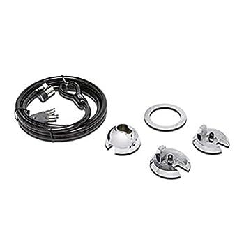 Kensington k67917m Noir, métallique–Câble antivol avec clé, Acier, Noir, métallique, iMac