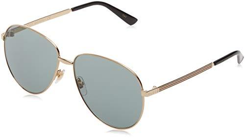 Gucci GG0138S 001 Gafas de sol, Dorado (Gold/Green), 61 Unisex Adulto