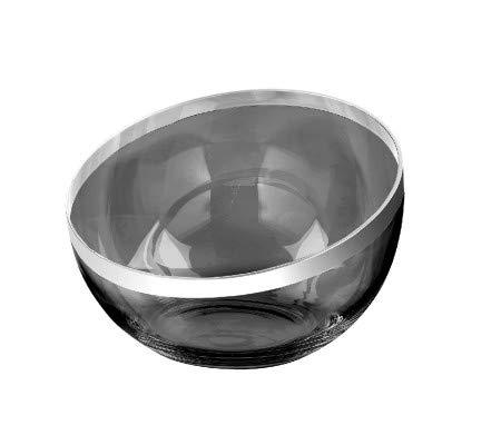 Fink Platinum/Schale,grau,m.Platinum/H.12,D.32cm