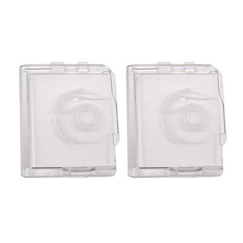 CKPSMS - 2 piezas # 825018013 plástico diapositiva placa cubierta para Janome MS2522 659 9500 9700 300e 200e 5024 Elna 3002, 3003, 3004, 3005, 3006, 30077