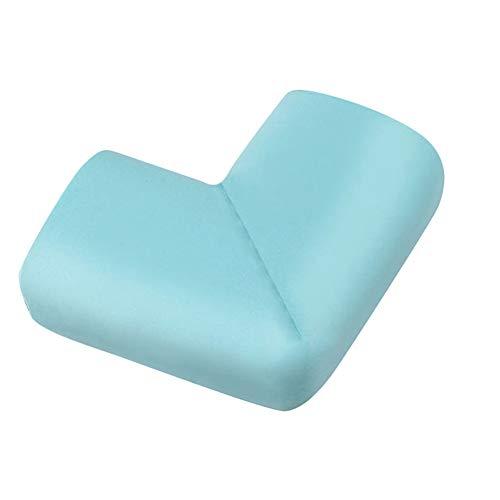 Mesa anticolisión ángulo silicona en forma de L protector de borde de esquina de muebles gruesos protección contra golpes adecuado para muebles campana extractora de rincón vidrio (azul)