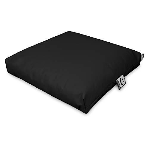HAPPERS Cojín Multiusos Suelo & Asiento Palets Exterior Negro 60x80cm