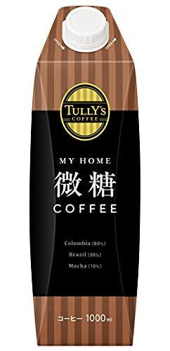 伊藤園 タリーズコーヒー 微糖コーヒー マイホーム キャップ付き 紙パック 1L×6本