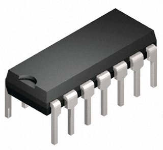 74HC02, Quad 2-Input NOR, DIP-14 (CMOS High speed Version, pin-kompatibel zu TTL 7402)