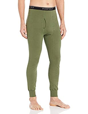 Duofold Men's Mid Weight Wicking Thermal Pant, Service Green, XL