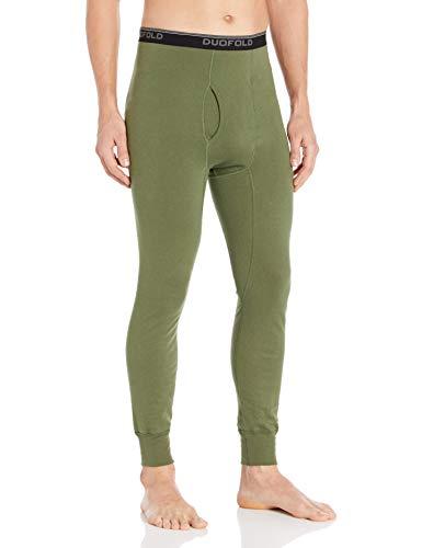 Duofold - Pantalones térmicos para Hombre, Verde (Service Green), Medium