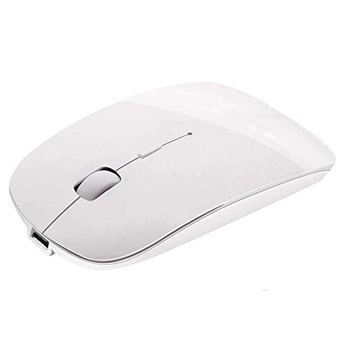 Rechargeable Bluetooth Mouse for Mac Laptop Wireless Bluetooth Mouse for Windows Notebook White