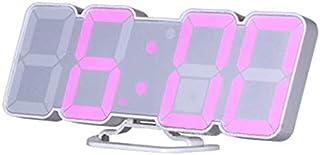 QiKun-Home Fullfärg röststyrning 3D LED Digital klocka Fjärrtemperatur Väckarklocka Ljudkontroll Tredimensionell väggklock...