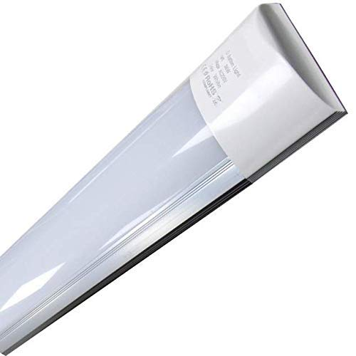 Pantalla Carcasa Tubo led integrado blanco neutro 4500K, 40w 120 cm, equivalente a 2 tubos fluorescentes o Led 3300lm. Regleta led slim.