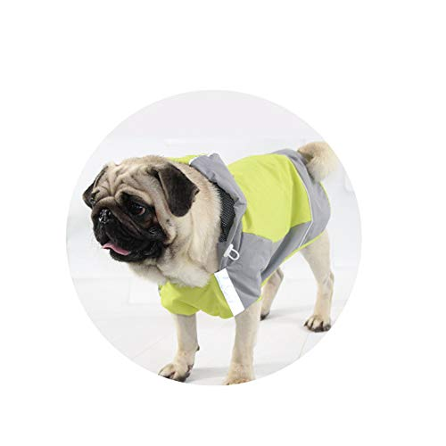Pessica Medium en grote hond ademende regenjas, zonnebrandcrème, koud, comfortabel en draagbaar, reflecterende strip, [geel groen. Meerdere maten, Groen, 6number
