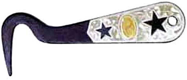 Intrepid International Silver Two Star Overlay Hoof Pick by Intrepid International
