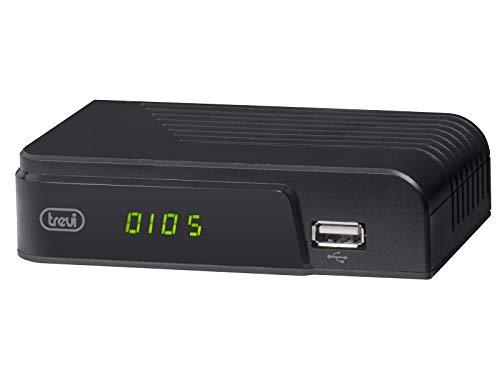 Trevi HE 3365 T2 Decoder Digitale Terrestre HD DVB-T2 HEVC con Codec H.265 10 Bit, HDMI, USB, Scart, Telecomando