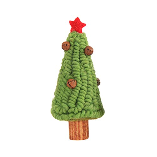 BESTOYARD Feutre de Bureau en Laine de Sapin de Noël des Cloches tintantes décoration de Noël (Vert Clair)