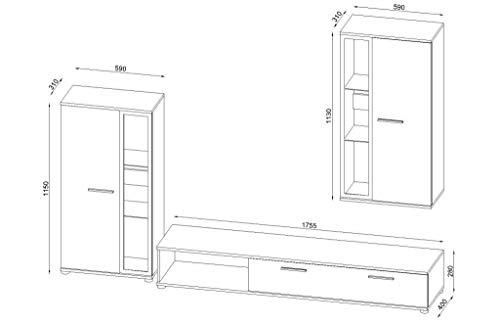 Wohnwand – furniture24_eu  Anbauwand Pino Sonoma kaufen  Bild 1*